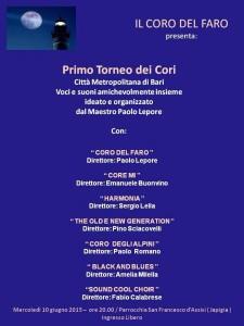 Primo Torneo dei Cori @ Chiesa San Francesco D'Assisi - Bari | Bari | Puglia | Italia