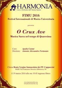FIMU 2016 - Festival Internazionale di Musica Universitaria @ Chiesa Beata Vergine Immacolata dei PP. Cappuccini - Bari | Bari | Puglia | Italia