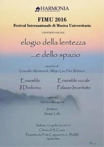 FIMU 2016 - Elogio della lentezza... e dello spazio @ Chiesa di Santa Croce - Bari | Bari | Puglia | Italia