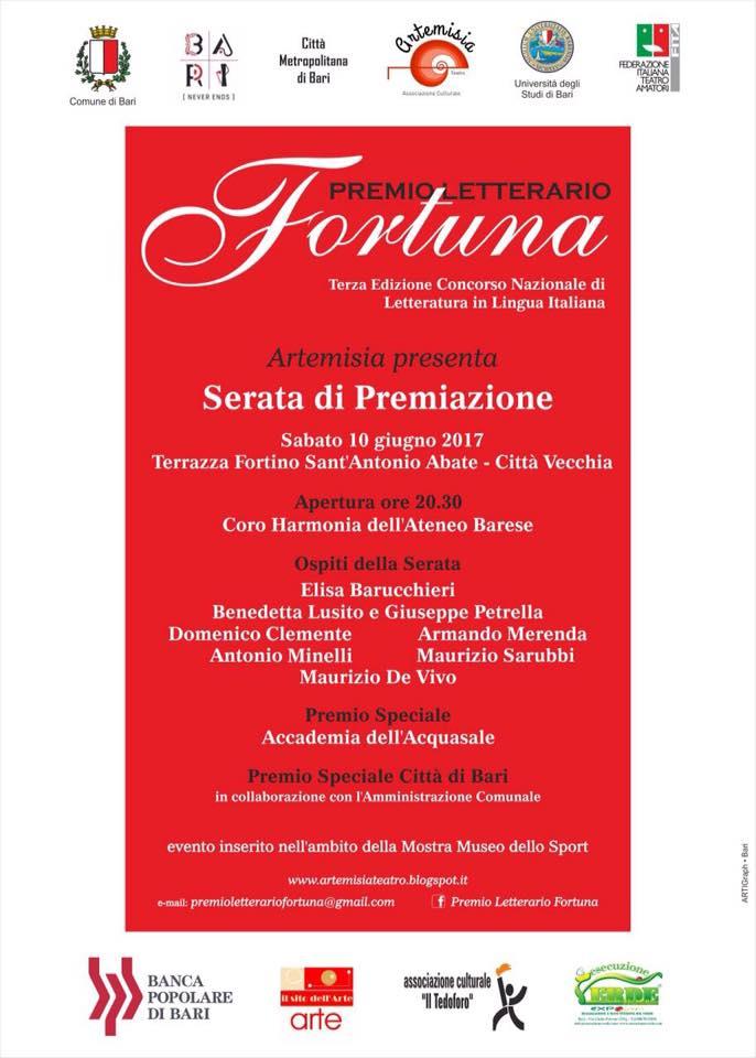 Premio Letterario Fortuna 3° edizione @ Terrazza Fortino Sant'Antonio Abate - Bari | Bari | Puglia | Italia
