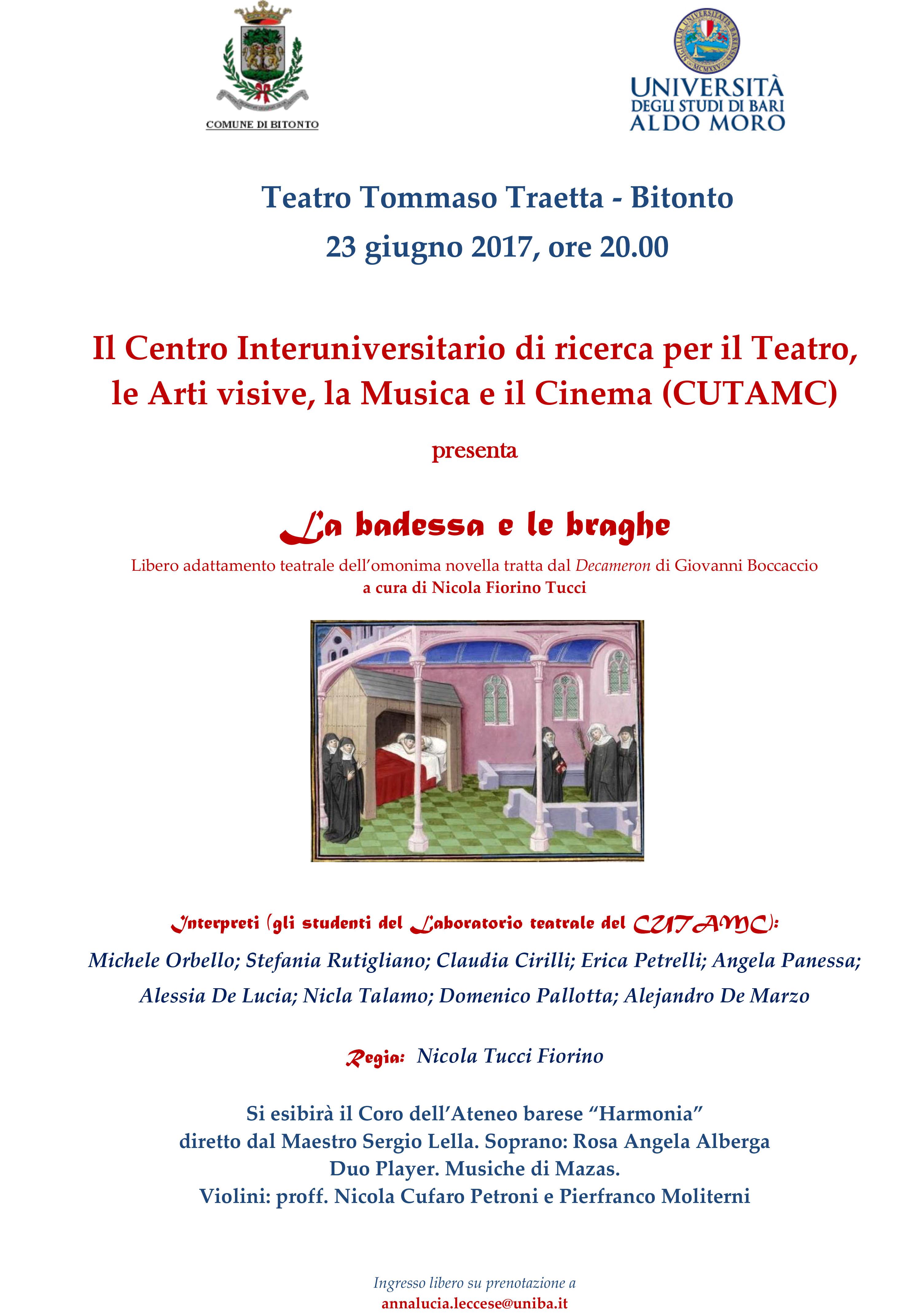 La Badessa e le braghe @ Teatro Traetta - Bitonto | Bitonto | Puglia | Italia