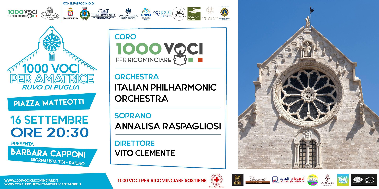 1000 voci per Amatrice @ Ruvo di Puglia   Ruvo di Puglia   Puglia   Italia