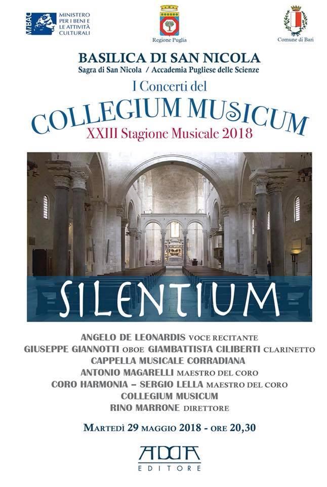 SILENTIUM - XXIII Stagione Concertistica COLLEGIUM MUSICUM @ Basilica di San Nicola - Bari | Bari | Puglia | Italia