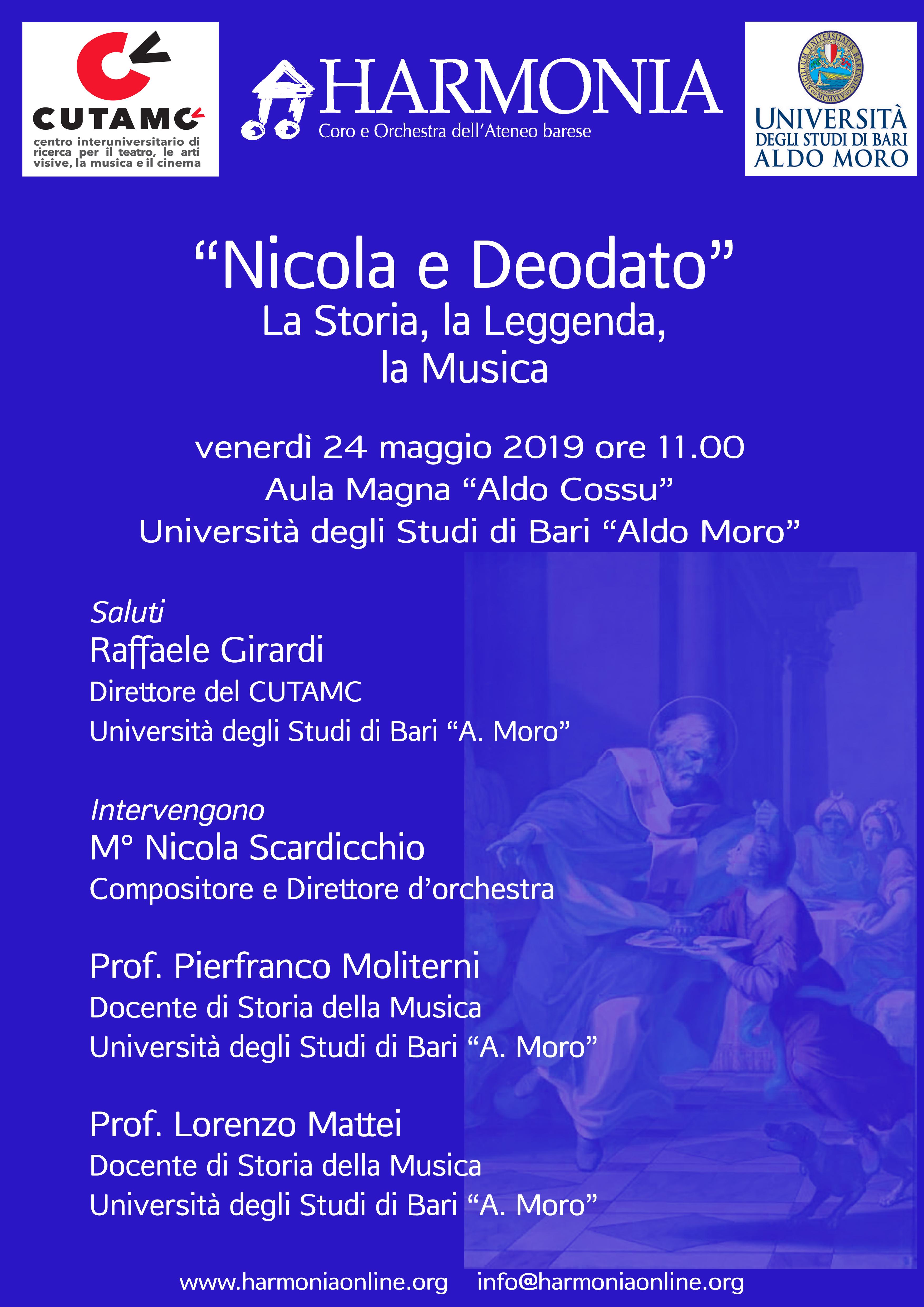 Nicola e Deodato - La Storia, la Leggenda, la Musica @ Aula Magna