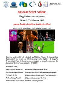 EDUCARE SENZA CONFINI ... viaggiando tra musica e teatro @ Basilica di San Nicola - Bari